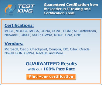 Latest IT Certification Training Products from Testking