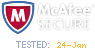 testkingcerts.com site secured by Mcaffe