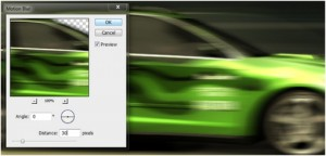 Motion and Speed effects: Adding Motion Blurs in Photoshop