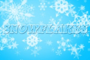 Creating a glass text effect with Snowflakes background in Photoshop