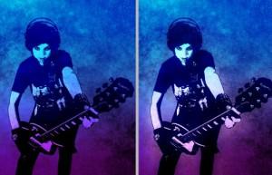 Rock Star Stamp Effect