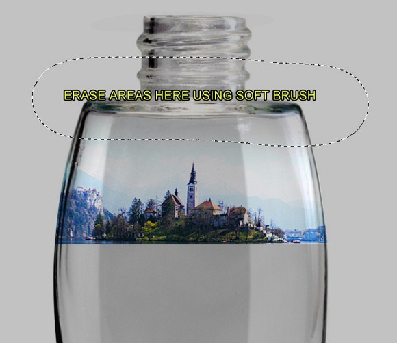 Island in a Bottle Photo Manipulation