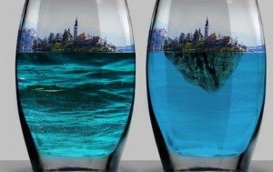 Island in a Bottle Photo Manipulation