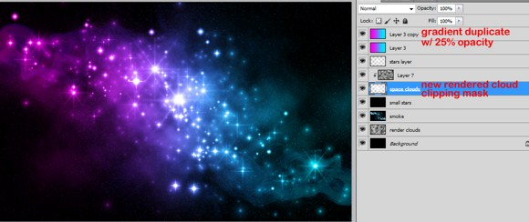 how to create a galaxy background in photoshop