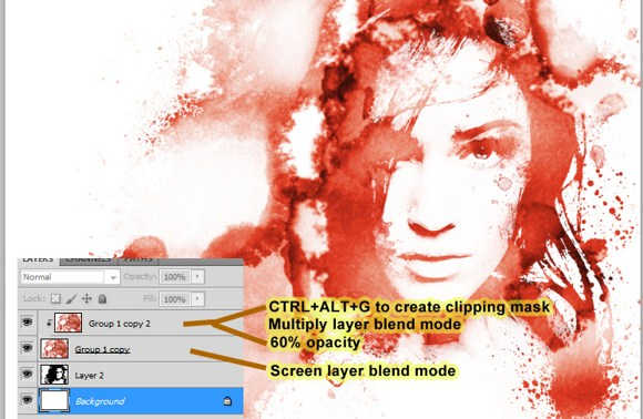Creating Bleeding Photo Effect