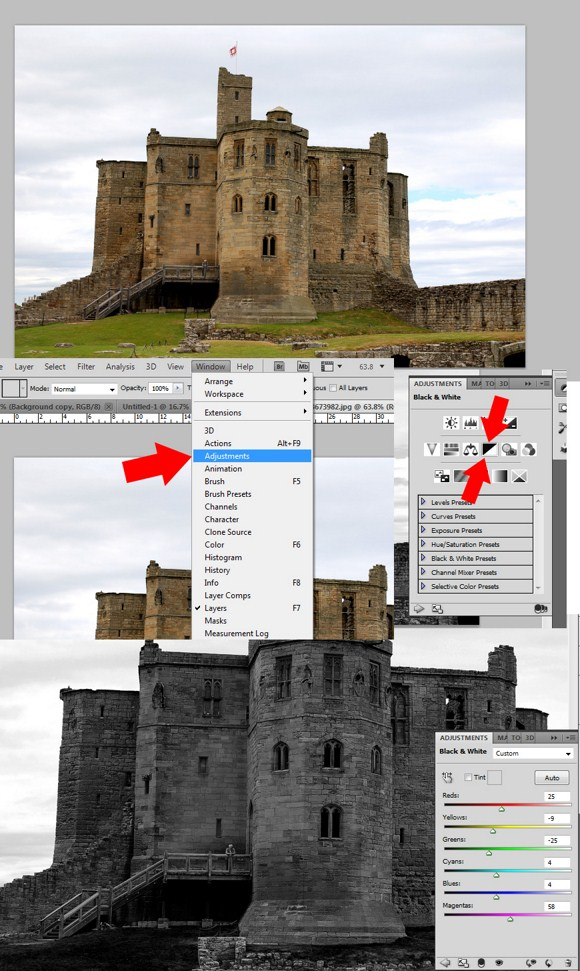 Non-destructive Photo Editing - Editing Photos Using Adjustment Layers