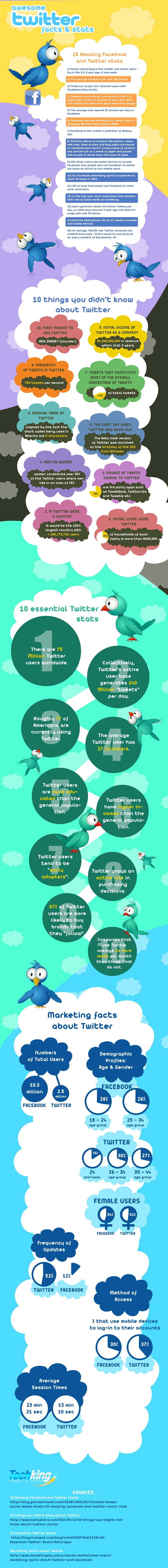 Awesome Twitter Facts & Stats - Infographic