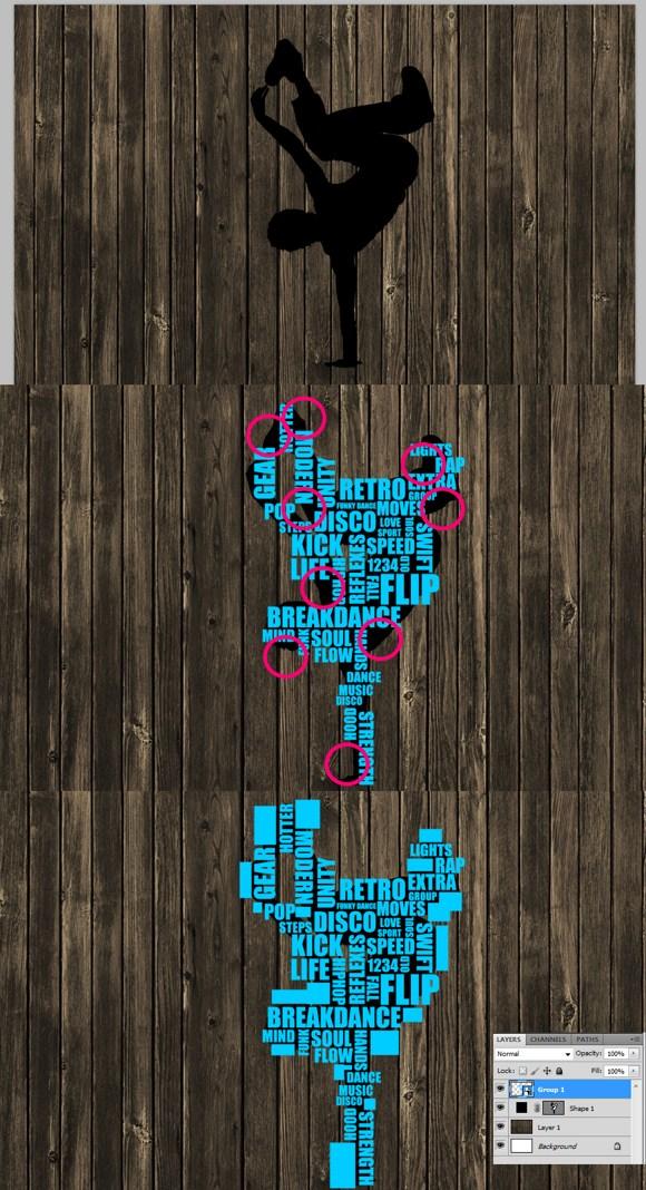 Typography Art – Break Dance