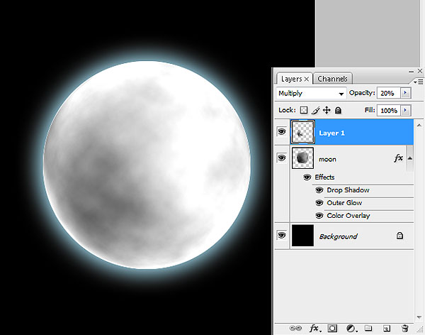 Create the moon from scratch with this Photoshop Tutorial