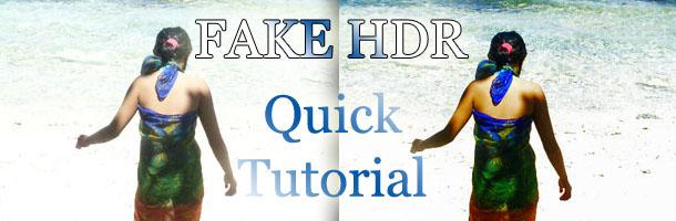 Fake HDR Quick Tutorial